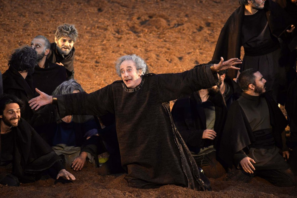 Mariano Rigillo in una scena di «Agamennone»