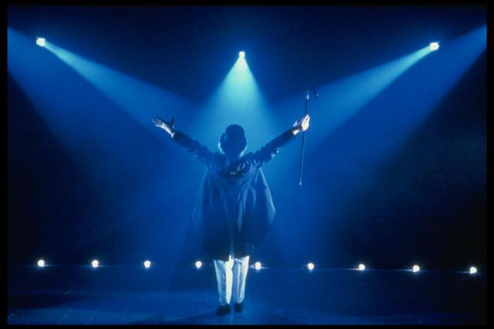 Una scena de «La grande magia» messa in scena da Strehler nel 1985 (foto di Luigi Ciminaghi)