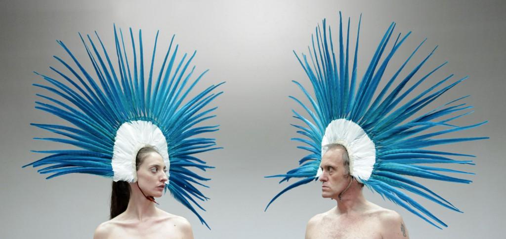 Anna Della Rosa e Luca Lazzareschi nella scena finale di «Clôture de l'amour»