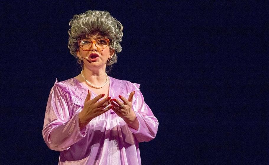 Rosalia Porcaro nel ruolo di Carmela in «Core 'ngrato» (le foto che illustrano l'articolo sono di Fiorella Passante)