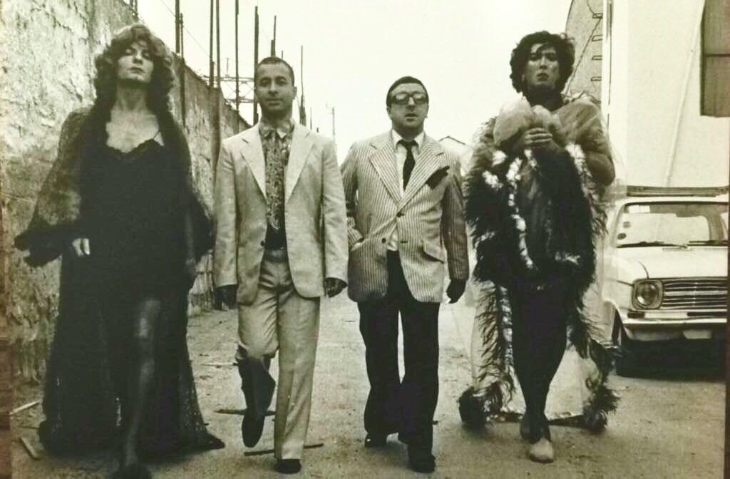 Da sinistra, Enzo Moscato, Tonino Taiuti, Silvio Orlando e Annibale Ruccello, interpreti nel 1985 della prima edizione di «Ragazze sole con qualche esperienza»