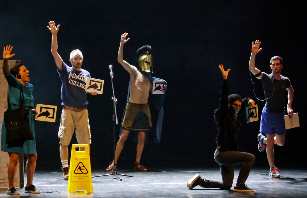 Un momento di «Overload» (le foto dello spettacolo sono di Angelo Maggio)