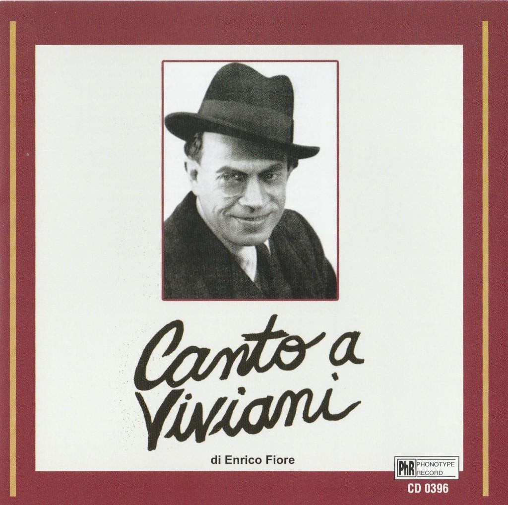 La copertina del cd «Canto a Viviani» pubblicato dalla Phonotype Record