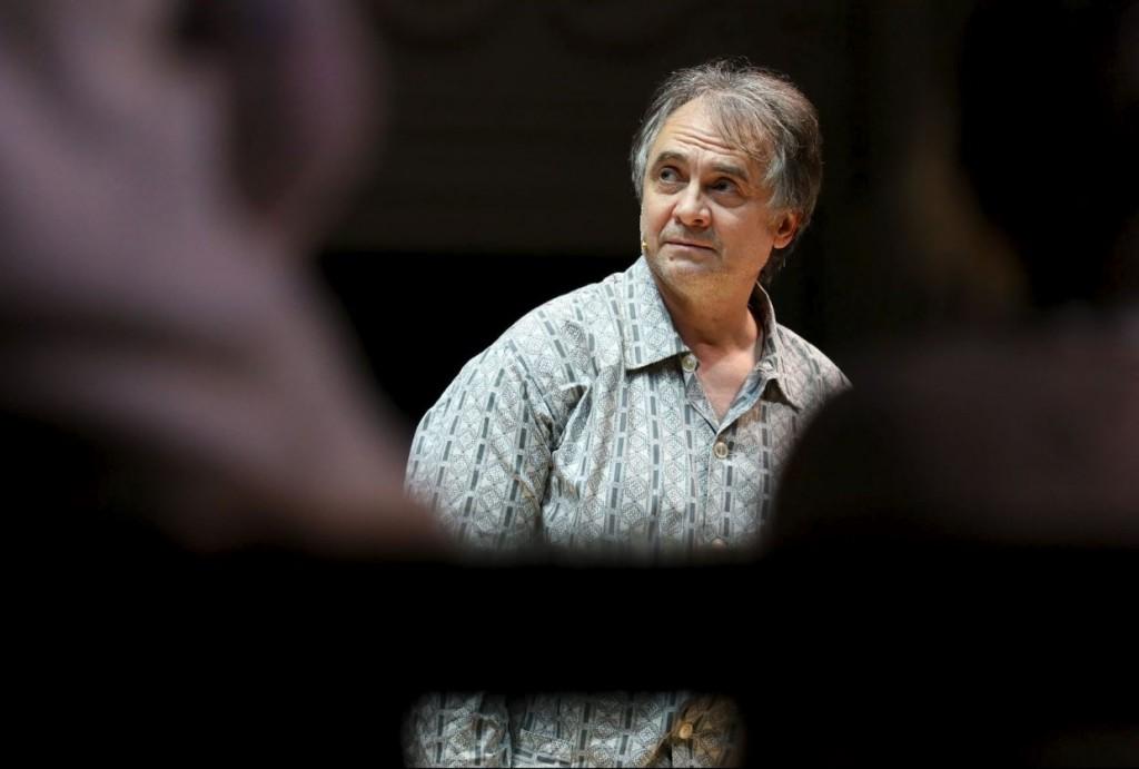 Dmitry Vorobyov in un momento di «Romeo&Juliet, or the merciful land» (le foto che illustrano questo articolo sono di Stas Levshin)