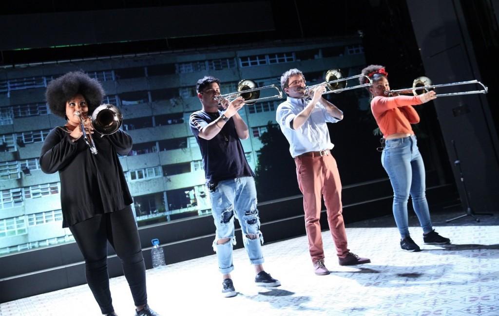 Da sinistra, Diana Sainz Mena, Christian Paneque Moreda, Daniel Cruces-Pérez e Milagros Álvarez Leliebre (la foto è di Dorothea Tuch)