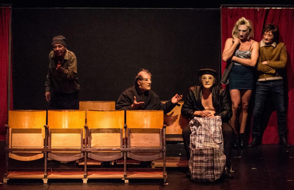 Un  momento di «Luciano», lo spettacolo di Danio Manfredini presentato di recente al Politeama (la foto è di Manuela Pellegrini)