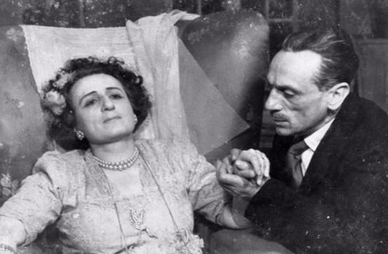 Titina e Eduardo De Filippo in un momento di «Filumena Marturano»