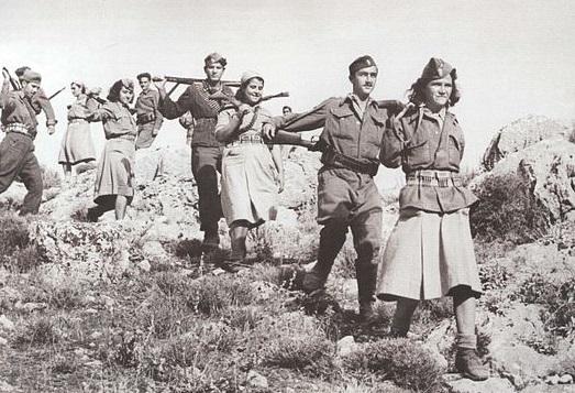 Partigiani comunisti dell'Elas, l'Esercito Popolare Greco di Liberazione