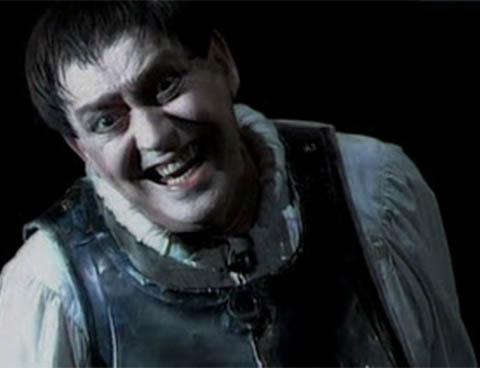 Carmelo Bene in un momento di «Macbeth Horror Suite»