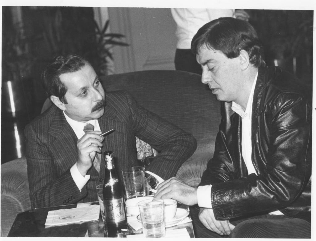 Qui sono con Carmelo Bene all'Hotel Excelsior, il 15 dicembre 1981